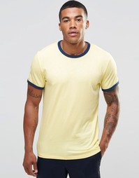 Желтая футболка слим Abercrombie & Fitch Ringer - Yellow ringer