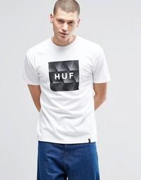 Футболка с принтом и логотипом HUF - Белый