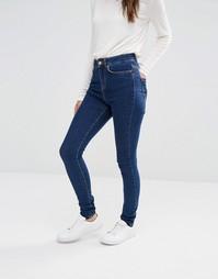 Облегающие джинсы с завышенной талией Noisy May - Умеренный синий