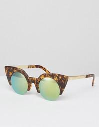Солнцезащитные очки кошачий глаз AJ Morgan Dramatic - Черепаховый
