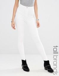 Облегающие джинсы с завышенной талией Missguided Tall - Белый