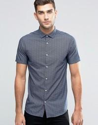 Премиум-рубашка в мелкий горошек с короткими рукавами Jack & Jones