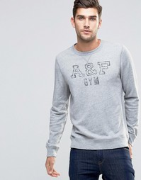Серый облегающий свитшот слим Abercrombie & Fitch - Вереск-серый