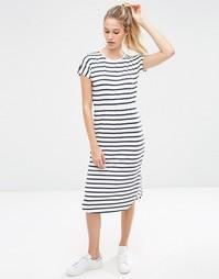 Приталенное платье миди в полоску ASOS - Мульти