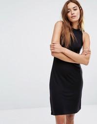 Платье со спинкой‑борцовкой и высокой горловиной Noisy May - Черный
