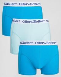 3 боксеров-брифов Oiler & Boiler - Синий