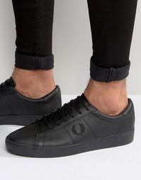 Кожаные кроссовки Fred Perry Spencer - Черный