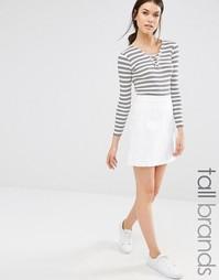 Эластичная короткая юбка-трапеция Missguided Tall - Белый