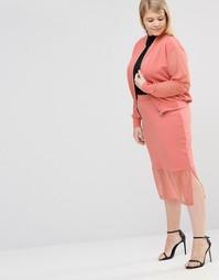 Юбка с прозрачной нижней кромкой Pink Clove - Розовый