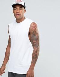 Свободная удлиненная футболка без рукавов ASOS - Белый