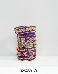 Расшитая бисером сумочка Reclaimed Vintage - Фиолетовый