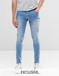 Суперзауженные джинсы с необработанными краями Brooklyn Supply Co