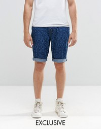 Brooklyn Supply Co Laser Print Prospect Slim Shorts
