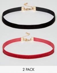 2 бархатных ожерелья-чокера ASOS