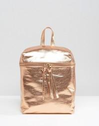 Рюкзак цвета металлик Missguided - Розовое золото