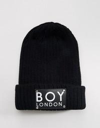 Шапка-бини с нашивкой Boy London - Черный