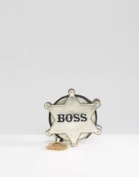 Кошелек для монет с надписью BOSS на накладке Skinnydip - Серебряный