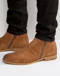 Замшевые ботинки на молнии Dune Casper - Рыжий
