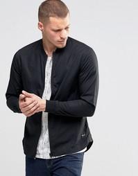 Рубашка на молнии в стиле куртки-пилот Only & Sons - Черный
