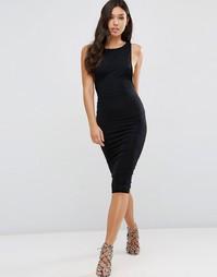 Платье миди с заниженными проймами ASOS - Черный
