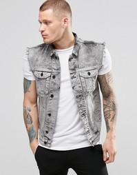 Джинсовая куртка без рукавов Religion - Серый