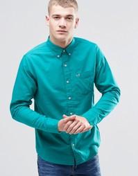 Зеленая оксфордская рубашка слим Hollister - Морская синь