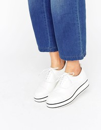 Bronx Eva Flatform Lace Up Shoes - Белый