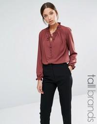 Блузка с высоким воротом Y.A.S Tall - Кирпично-красный