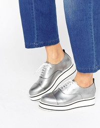 Bronx Eva Flatform Lace Up Shoes - Серебряный