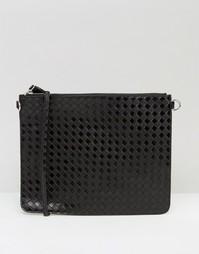 Плетеная сумка через плечо Monki - Черный