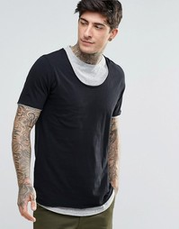 Двухслойная футболка Minimum - Черный