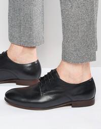 Кожаные туфли дерби Hudson London Champlain - Черный