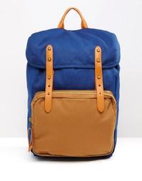 Рюкзак с контрастным карманом ASOS - Синий