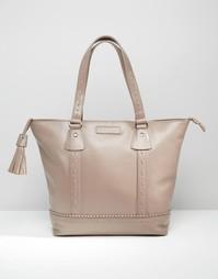 Кожаная сумка‑шоппер Ruby Rocks - Серо-коричневый