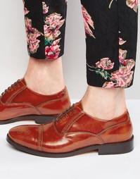 Кожаные оксфордские туфли Base London XXI Noel - Рыжий