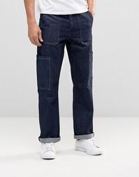 Прямые джинсы в стиле карго ASOS - Indigo - индиго