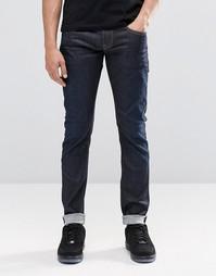 Темные джинсы скинни Pepe Finsbury Z06 - Темно-синий цвет