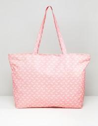 Дорожная сумка с принтом пейсли 7X - Розовый