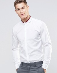 Белая рубашка зауженного кроя HUGO by Hugo Boss - Белый