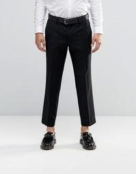 Укороченные брюки скинни Farah - Черный