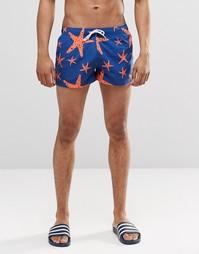 Короткие шорты с принтом морская звезда Swells - Темно-синий