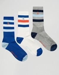 3 пары спортивных носков в стиле ретро Original Penguin - Синий