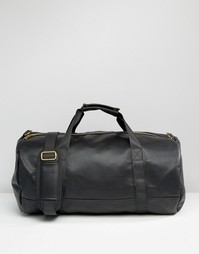 Черная сумка из искусственной кожи с мятым эффектом Mi‑Pac - Черный