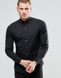 Черная поплиновая рубашка слим Replay - Черный