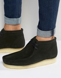 Ботинки Clarks Originals Wallabee - Черный