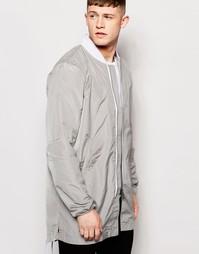 Удлиненная куртка-пилот Native Youth Tech - Серый