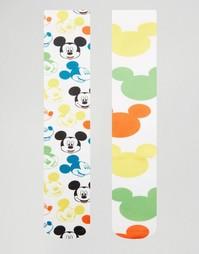 Набор из 2 пар носков с изображением Микки Мауса ASOS - Белый
