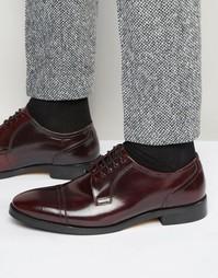 Кожаные туфли дерби Base London XXI Oscar - Красный