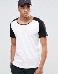 Пляжная футболка с рукавами реглан и овальным вырезом Ringspun Co-ord