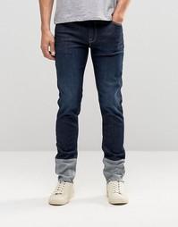 Облегающие джинсы со вставками из обратной стороны денима ASOS